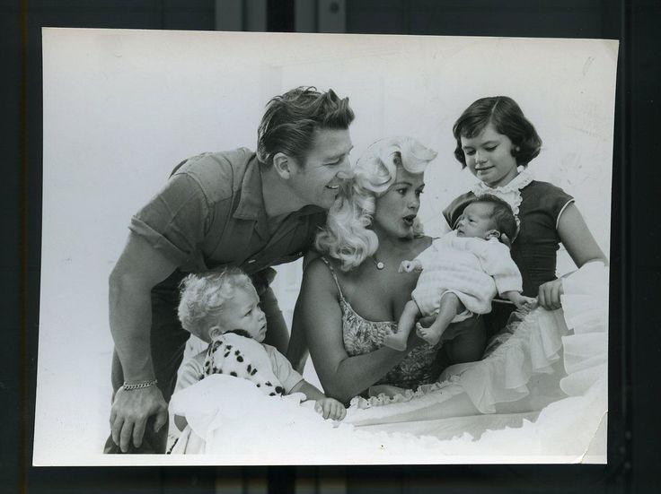 Vintage 65 Jayne Mansfield Mickey Hargitay Kids W Baby