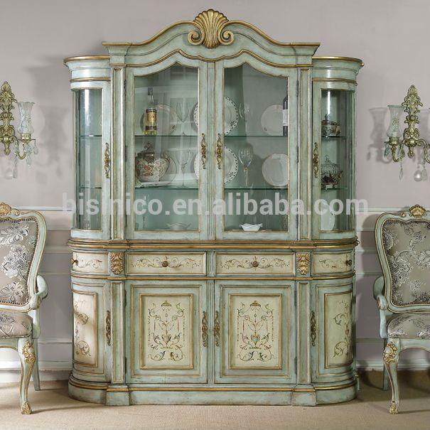 El boyalı cam ekran büfe büfe, eski püskü şık antika dolap, eski ahşap yemek mobilya-resim-Ahşap Dolapları-ürün Kimliği:1987868239-turkish.alibaba.com
