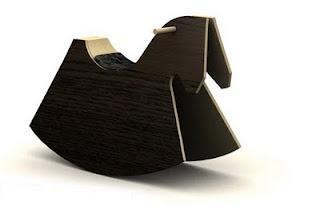 Plywood animal rockers designed by Iwona Kosicka