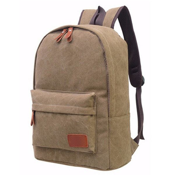 Women Canvas Backpack Girls Casual School Book Bags Students Laptop Satchel - US$19.99