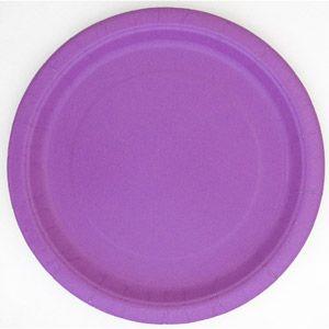 "9"" Pretty Purple Dinner Plates, 20-Count"