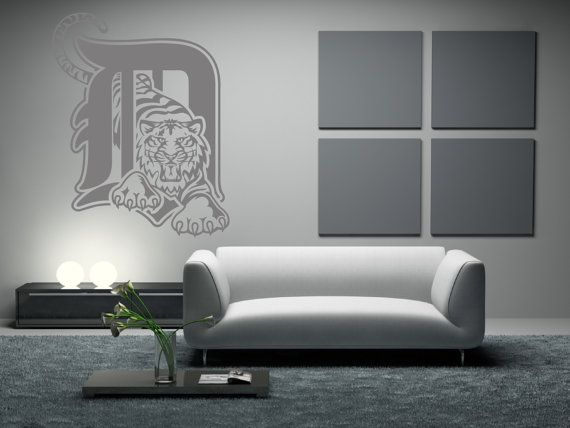 Detroit Tigers Premium Removable Wall Art Decor by Signs4Half   40 00. 127 best baseball room images on Pinterest   Detroit tigers
