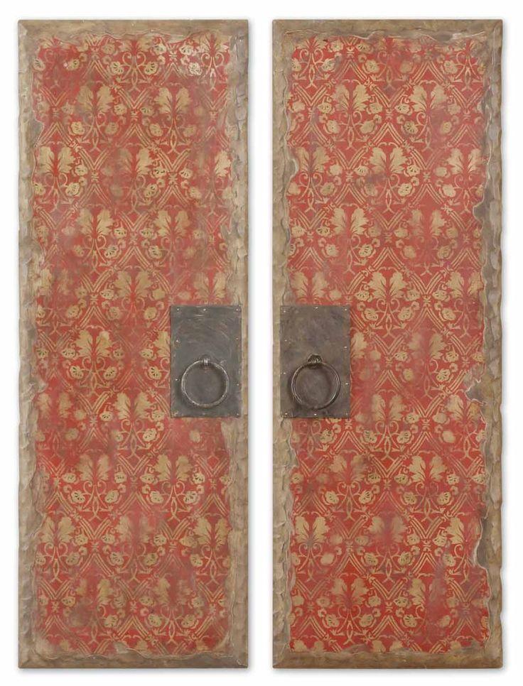 Uttermost Red Door Panels Set 2