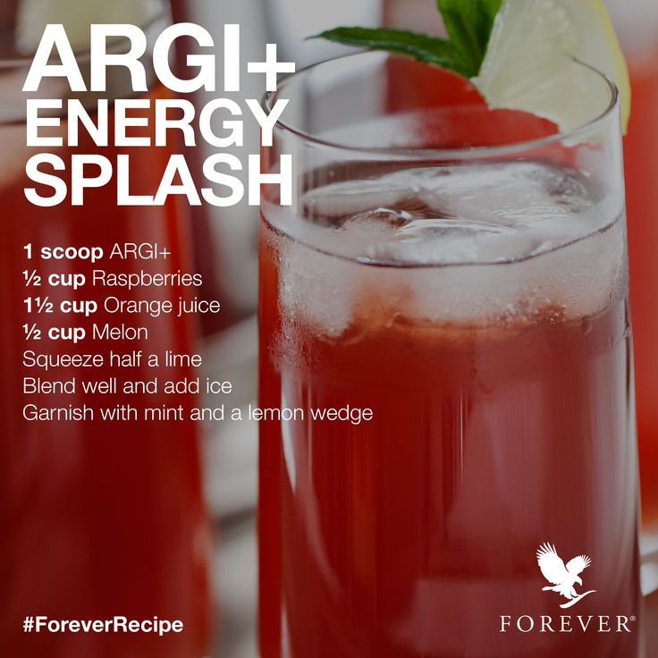 ARGI+ Energy Splash Recipe using Forever Living Product, ARGI+! #ForeverRecipe