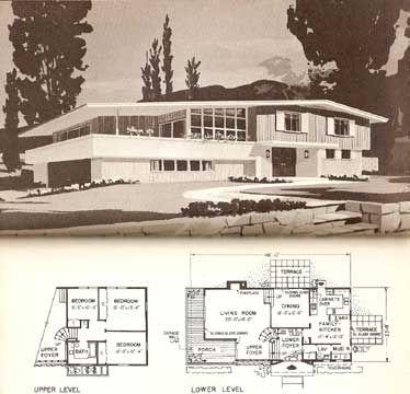 mid century mod split level home