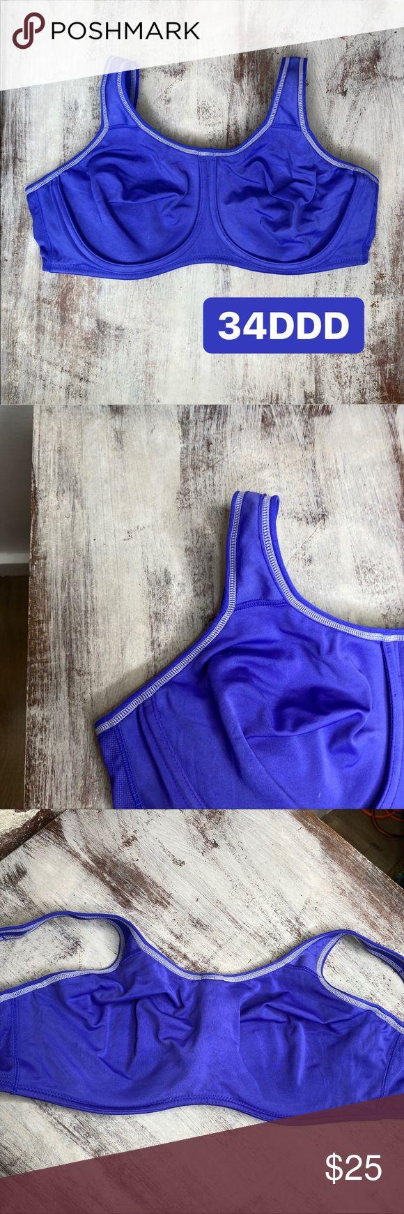 Wacoal purple Unlined Full Coverage bra 34DDD Wacoal