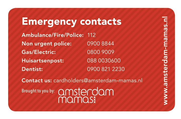 The Amsterdam Mamas - The Village Card (Back)