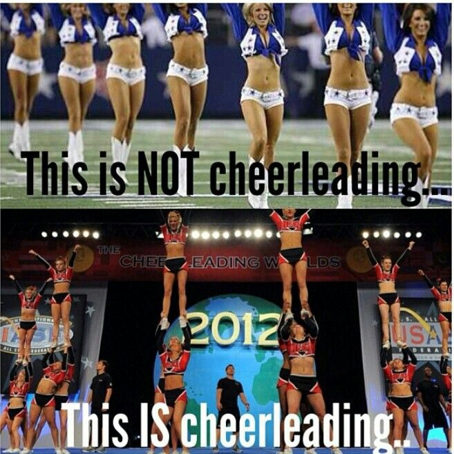 Amen! Wish people would realize that cheer is a sport! Dallas Cowboys cheerleaders are more of a dance team than cheerleaders.