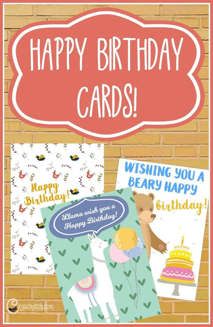 Send a Birthday Card! (Free printable) Free birthday
