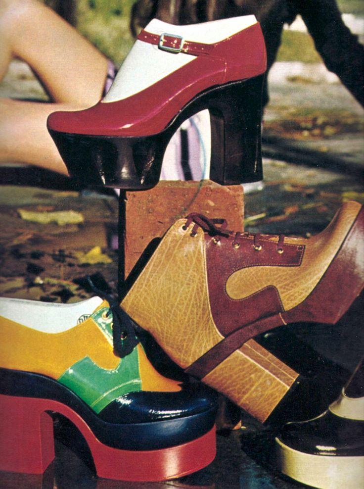 Photo by Barbara Pflaum, 1975. Platform shoes of the mid-1970s.