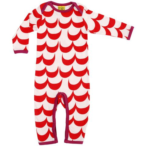 Wave Suit Red - ittikid • Scandinavian Children's Clothes - Scandinavian Baby and Kids Clothes | Organic Eco Friendly Kids Clothes from Smafolk, Maxomorra, Duns Sweden, Sture & Lisa