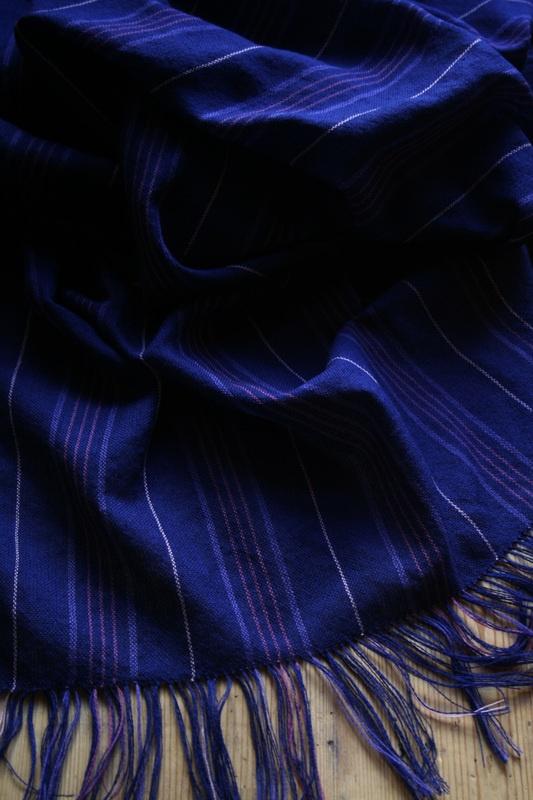 Sjal i ull, nr 7. 78 x 219 cm + frans, 840 kr