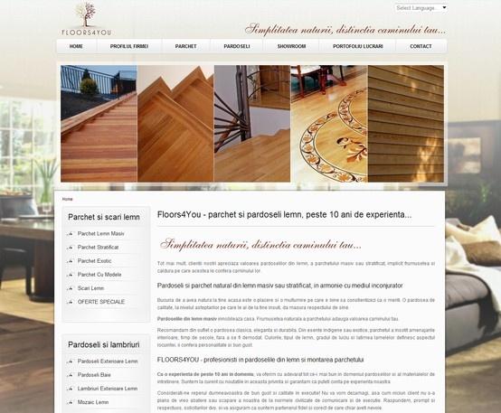Web Design & Development - Floors4You 2011