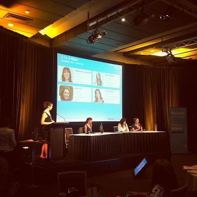 Our very own Lisa Fox at the Women in Focus conference!    You can find out about Lisa here http://www.discordia.com.au/about/the-gang/