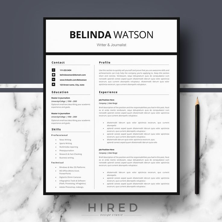 141 best Resume Templates for MS Word images on Pinterest Cover - ms word resume templates