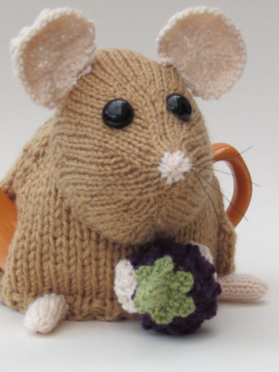 The dormouse tea cosy knitting pattern makes a small sized tea cosy that holds…