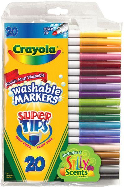 crayola super tip washable markers-20/pkg