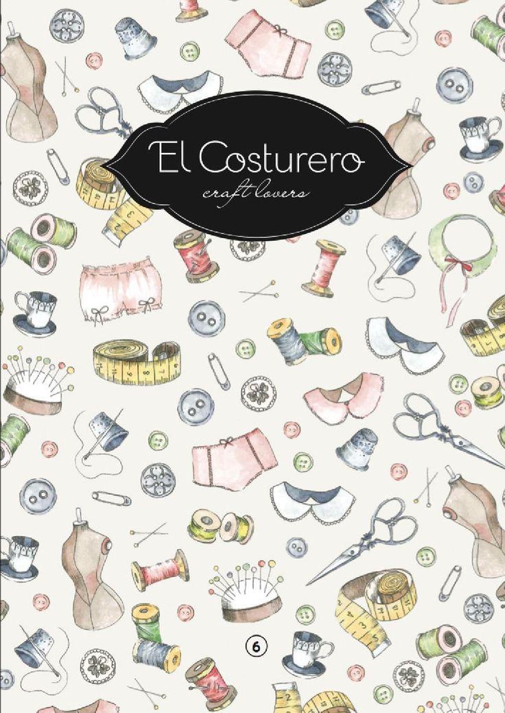 """El costurero 6 """"Sew and Draw"""" Spanish Version Descubre con este nuevo volumen cómo crear tu propio guardarropa y DESCARGATE nuestros PATRONES en nuestra web con el código que viene dentrod e la publicación. Características: 100 páginas Incluye: - 10 perfiles de creadores dedicados al """"Arts&Crafts"""" - Patrones de costura inspirados en los años 20, 30 y 40 - Paso a paso para aprender a transformar prendas y convertilas en otras -Creación de patrones textiles y páginas para colorear y c..."""