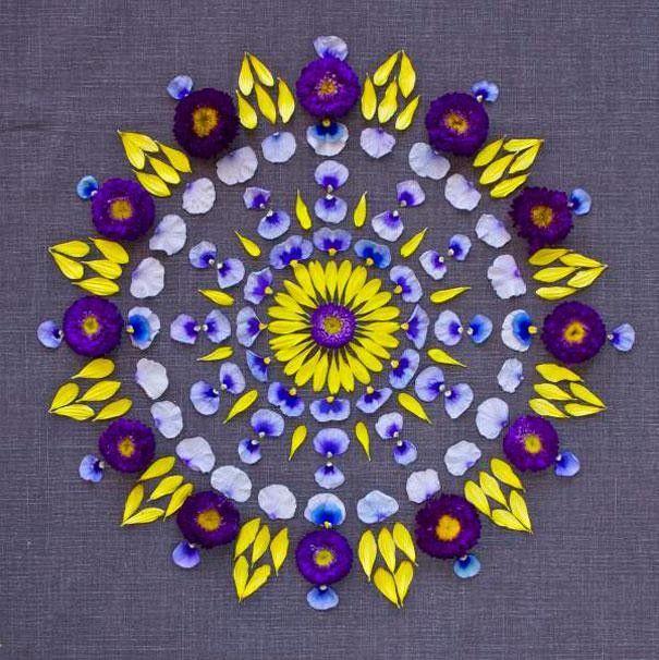 Mandalas de fleurs par Kathy Klein par le journal du design
