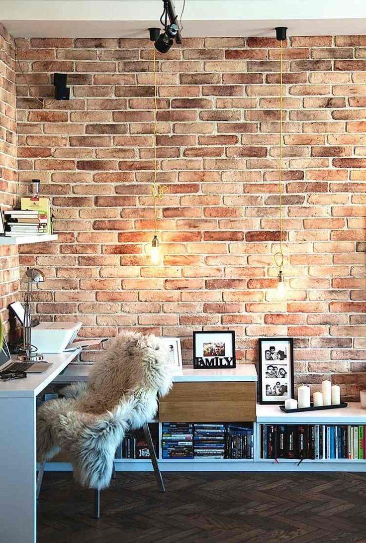 Les 25 meilleures id es concernant chambre en brique sur for Mur brique salon