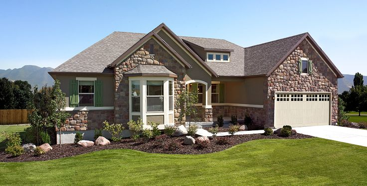 This ranch style haley home by richmond american for Windows for ranch style homes