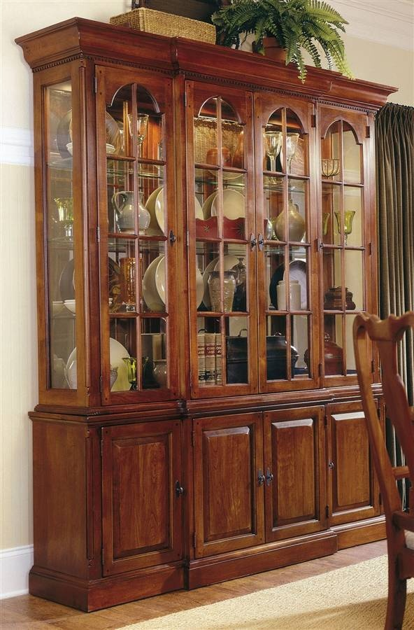 4-Door Buffet Server w Glass Door Hutch in Cherry - Bob Timberlake & 188 best images about Bob Timberlake Collection on Pinterest ... Pezcame.Com