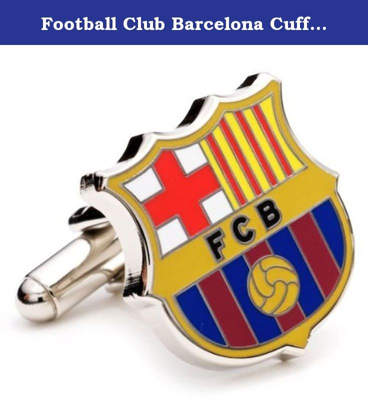 Football Club Barcelona Cufflinks. Football Club Barcelona, commonly referred to as FC Barcelona, is the premier soccer club of Spain. Founded in 1899, FC Barcelona has been one of the top clubs every season in the La Liga soccer division, claiming 18 championships. Cufflinks are silver plated with enamel. Football Club Barcelona, commonly referred to as FC Barcelona, is the premier soccer club of Spain. Founded in 1899, FC Barcelona has been one of the top clubs every season in the La…