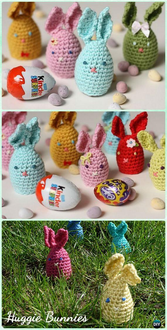 Crochet Easter Egg Huggie Bunny Free Pattern - Crochet Easter Egg Ideas [Free Patterns]