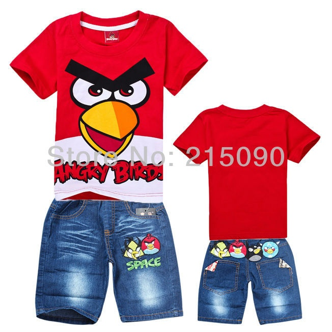 Angry Bird Set (Top+Pant) Size 95,100,110,120,130,140 Ages 1-6 T Material cotton and jeans  Rp 135.000,-