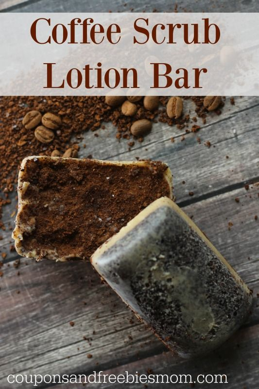 Easy Coffee Scrub Lotion Bars! With only a few simple ingredients, these DIY homemade Coffee Scrub Lotion bars are perfect for pampering your skin, or as gorgeous gifts! Check out how easy this recipe is!