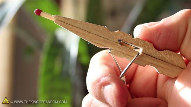 Mini Matchstick Gun - The Clothespin Pocket Pistol #upcycle #reuse #weapon