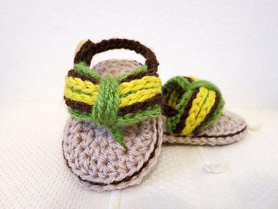 >> Click to Buy << Crochet Girl-boy Sandals,crochet baby sandals,crochet booties Kids Flip Flops Baby Shower Size: 9cm-10cm-11cm  #Affiliate