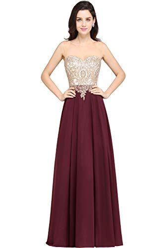 cd68a152a08 MisShow Women s Lace Applique Rhinestone Formal Bridesmai. Click on this  Pin and see more information in Amazon.com MisShowWomen  ...