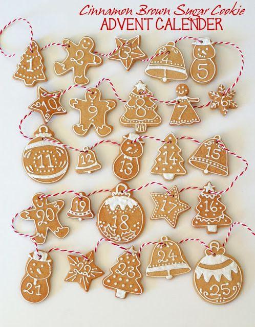 butter hearts sugar: Cinnamon Brown Sugar Advent Calendar Cookies