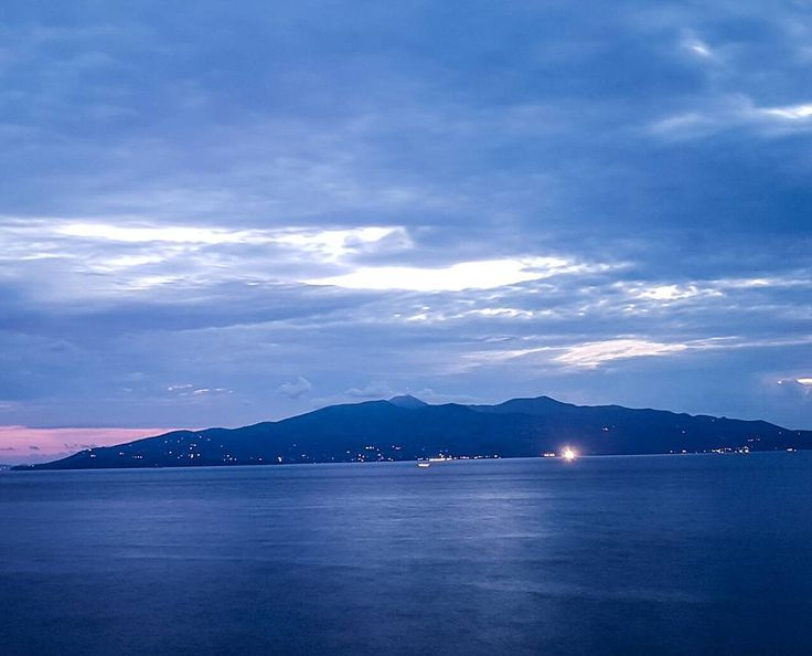 The (late)  sunset, one hour later.  Long exposure with my #s7edge,  view of Corfu Island,  opposite to Sarande,  Albania