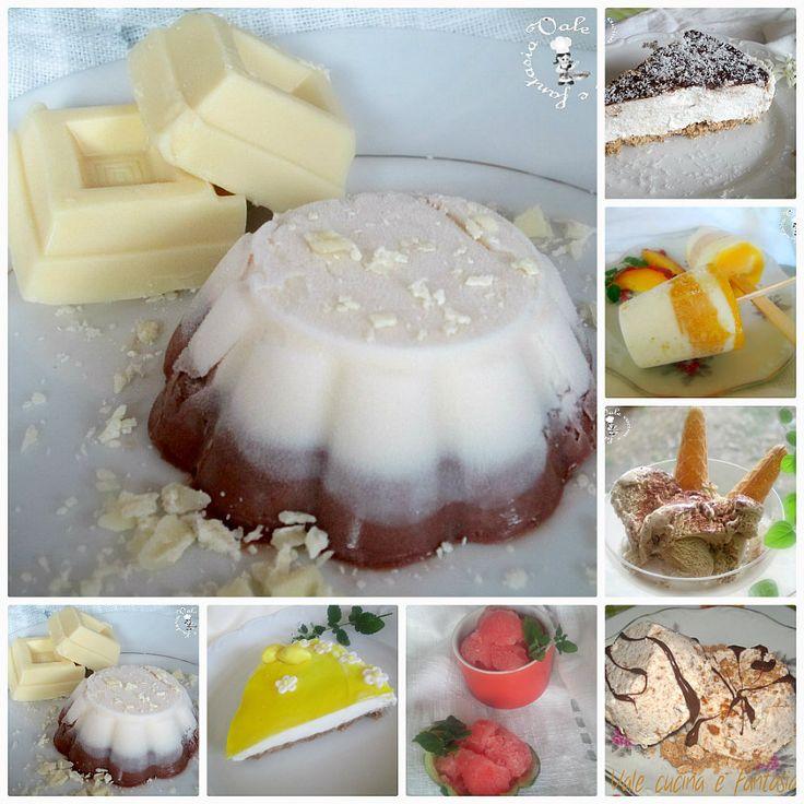 Raccolta di dolci freschi ,ricette estive