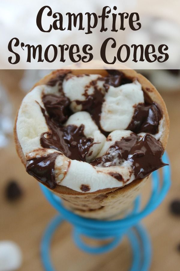 Smores Cones for Unique Treat