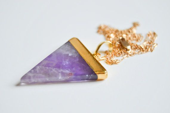 Triangle Crystal Point-Geometric Gold or Silver Dipped