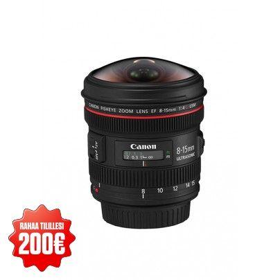 CANON EF 8-15/4 L USM Fisheye lens.