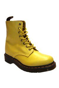 Dr. Martens - 8 eye - Sun yellow - soft leather
