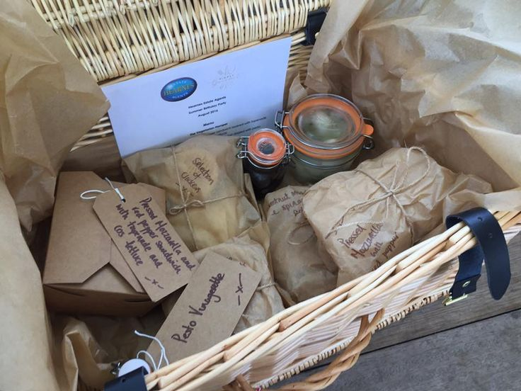 Picnic hampers provide a great casual style of catering