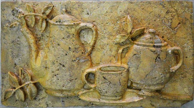 Kitchen Backsplash- Antique Sculpture    Mosaic   Kettle