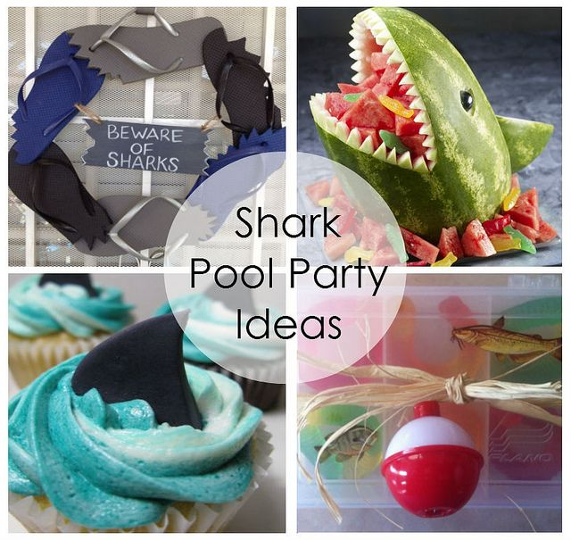 Happy Shark Week! Great shark theme party ideas for your next pool party