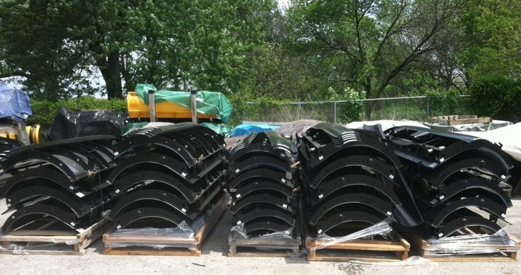 Stack of SnowDogg snow plows...lowest prices in the country