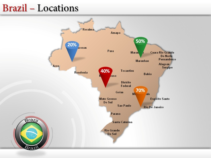 26 best Map of Brazil images on Pinterest Maps, Brazil and Cards - best of world map with brazil highlighted
