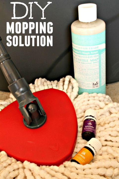 DIY Floor Cleaner Mopping Solution