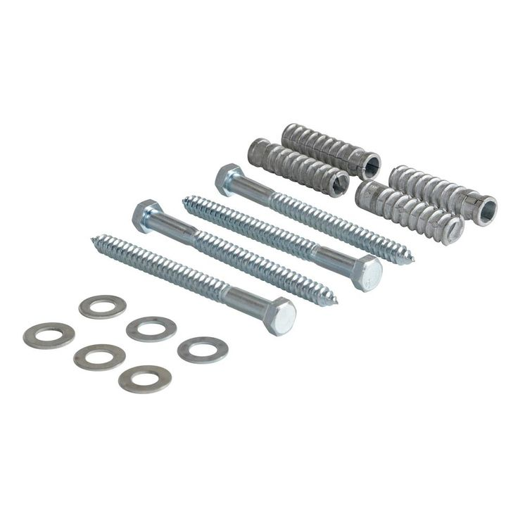0.75 in. W 6.375 in. H 0.75 in. L Silver 4 Spike Concrete Hardware Kit for Car Stop