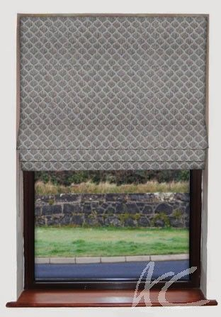 Clarke and Clarke Cadoro Deco String Roman Blind