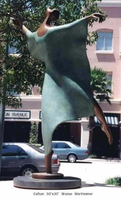 Bronze Sculptures of females #by #sculptor Esther Wertheimer titled: 'Caftan' #art