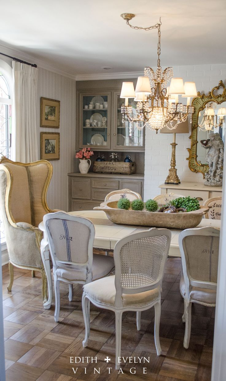 French country cottage dining room renovation